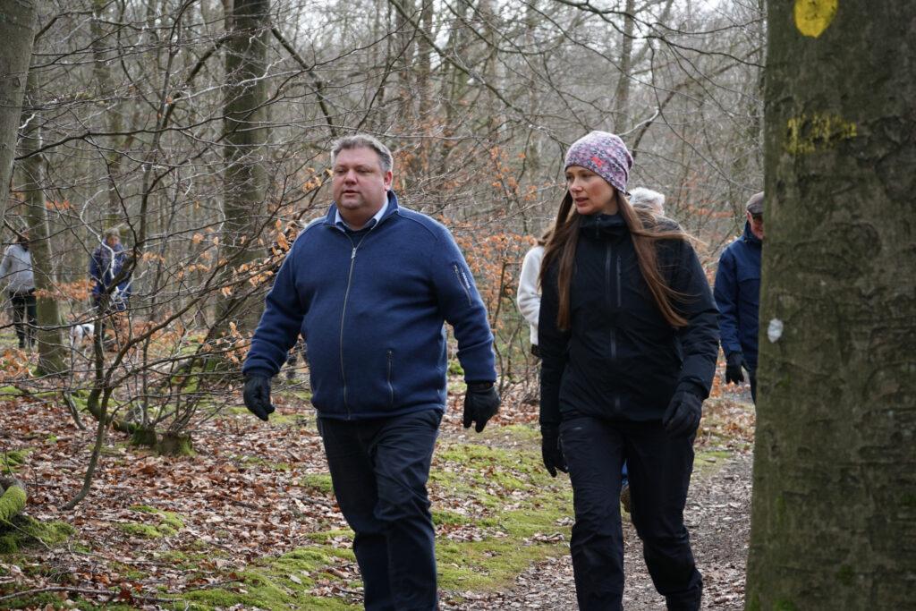 Godt i gang: Borgmester på ambassadørtur i skoven
